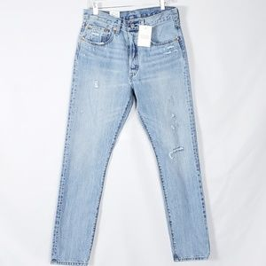 Levi's 501 Light Wash Skinny Button Fly NWT